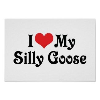 I Love My Silly Goose Print