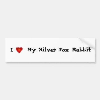 I love my silver fox rabbit bumper sticker car bumper sticker