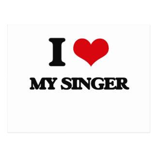 I Love My Singer Post Cards