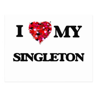 I Love MY Singleton Postcard