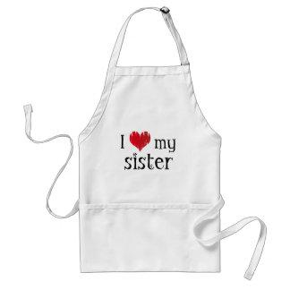 I love my sister adult apron