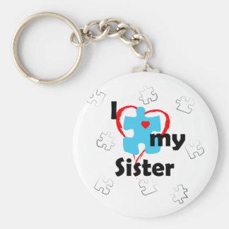 I Love My Sister - Autism Keychain
