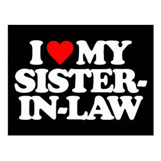 I LOVE MY SISTER-IN-LAW POSTCARD