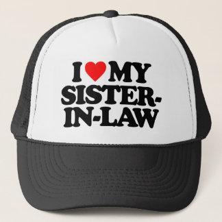 I LOVE MY SISTER-IN-LAW TRUCKER HAT