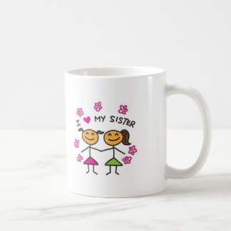 I Love My Sister Coffee Mugs