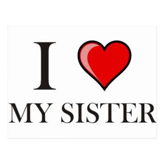 I love my Sister Postcard