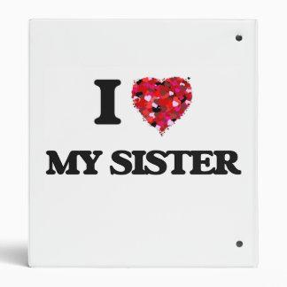 I Love My Sister Vinyl Binder