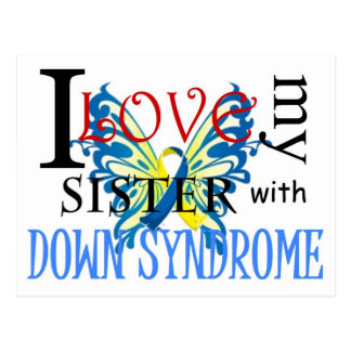 I Love My Sister with Down Syndrome Postcard