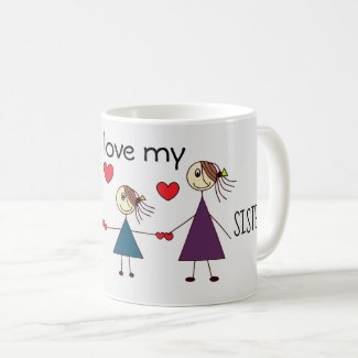 Adorable Stick Sisters Coffee Mug