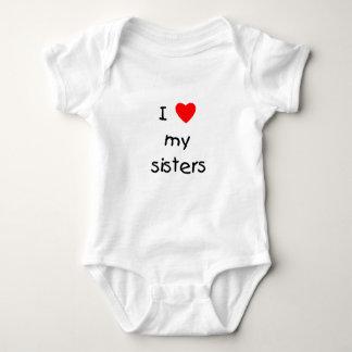 I Love My Sisters Baby Bodysuit
