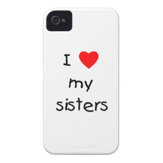 I Love My Sisters iPhone 4 Covers