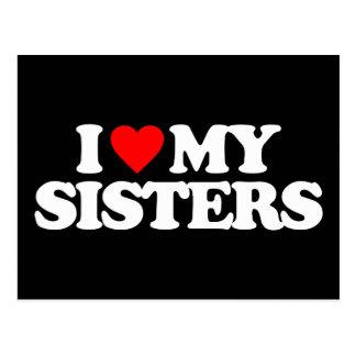 I LOVE MY SISTERS POSTCARD