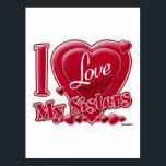 """I Love My Sisters red - heart Postcard<br><div class=""""desc"""">I Love My Sisters red - heart</div>"""