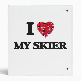 I Love My Skier Vinyl Binder