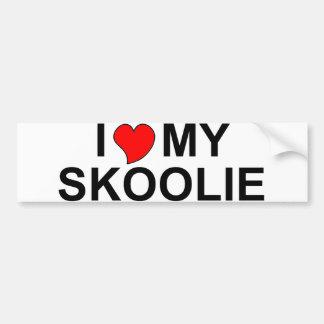I Love My Skoolie Bumper Stickers