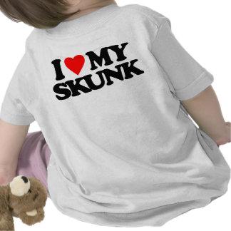 I LOVE MY SKUNK TEE SHIRT