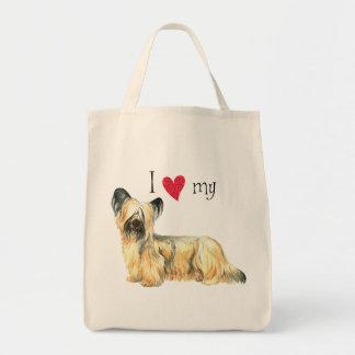 I Love my Skye Terrier Tote Bag