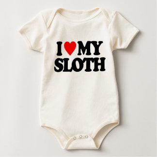 I LOVE MY SLOTH BABY BODYSUITS
