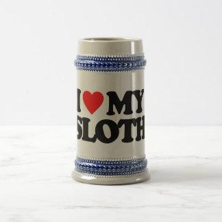 I LOVE MY SLOTH COFFEE MUGS