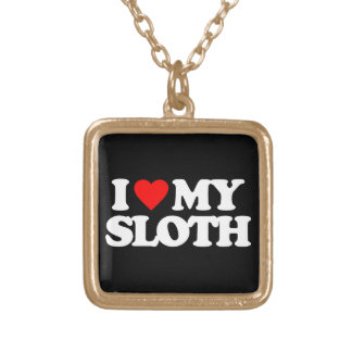 I LOVE MY SLOTH PERSONALIZED NECKLACE