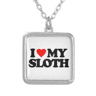 I LOVE MY SLOTH NECKLACES