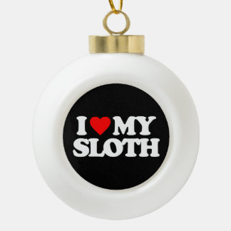 I LOVE MY SLOTH ORNAMENT