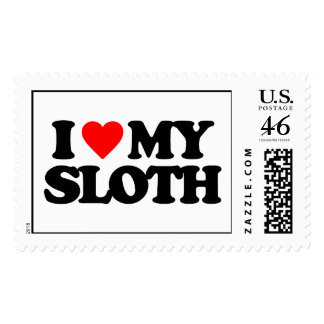 I LOVE MY SLOTH POSTAGE STAMPS