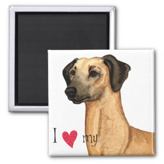 I Love my Sloughi 2 Inch Square Magnet