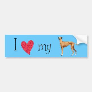 I Love my Sloughi Car Bumper Sticker