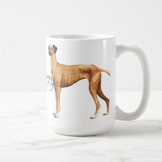 I Love my Sloughi Classic White Coffee Mug