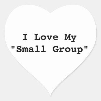 "I Love My ""Small Group"" Heart Sticker"