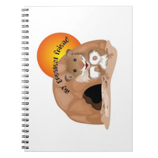 I love my small hamster note booklet spiral notebook