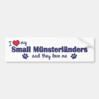 I Love My Small Munsterlanders (Multiple Dogs) Car Bumper Sticker