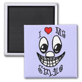 I Love My Smile 2 Inch Square Magnet