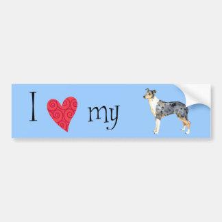 I Love my Smooth Collie Bumper Sticker