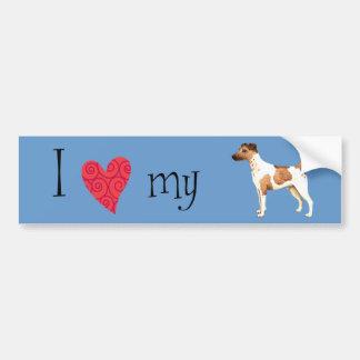 I Love my Smooth Fox Terrier Bumper Sticker