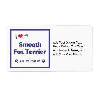 I Love My Smooth Fox Terrier (Female Dog) Shipping Labels