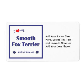 I Love My Smooth Fox Terrier (Male Dog) Shipping Label