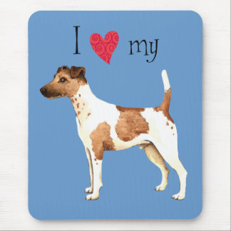I Love my Smooth Fox Terrier Mouse Pad