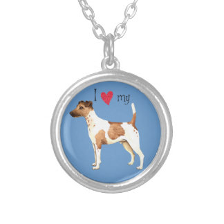 I Love my Smooth Fox Terrier Silver Plated Necklace