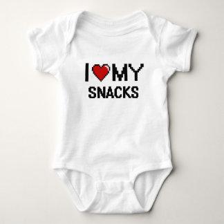 I Love My Snacks Digital design Baby Bodysuit