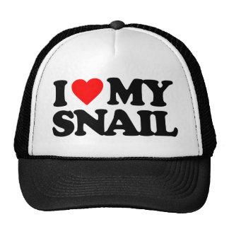 I LOVE MY SNAIL TRUCKER HAT