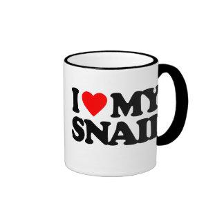 I LOVE MY SNAIL RINGER COFFEE MUG