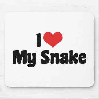 I Love My Snake Mouse Pad