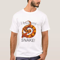 I love my snake! t shirt design 7