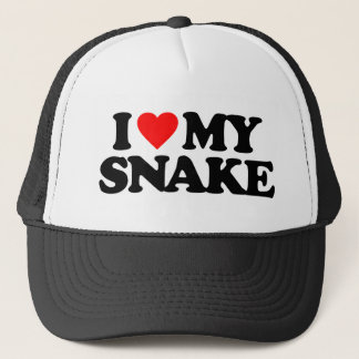 I LOVE MY SNAKE TRUCKER HAT