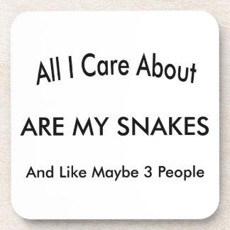 I Love My Snakes Coasters