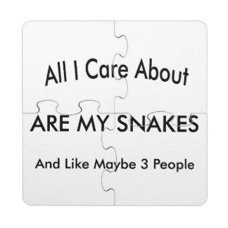 I Love My Snakes Puzzle Coaster