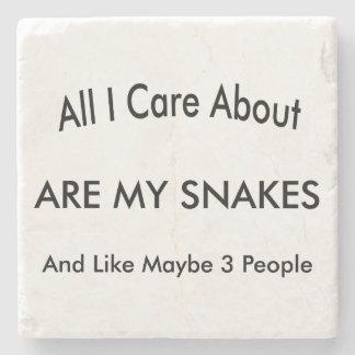 I Love My Snakes Stone Beverage Coaster