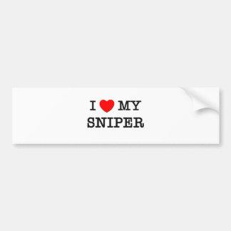 I Love My SNIPER Bumper Sticker